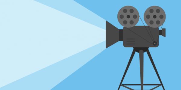 Illustrasjon av et videokamea