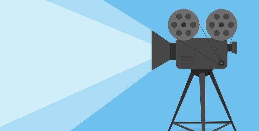 Illustrasjon av et videokamera