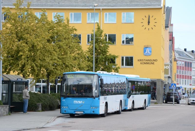 Foto av busstopp i Kristiansund