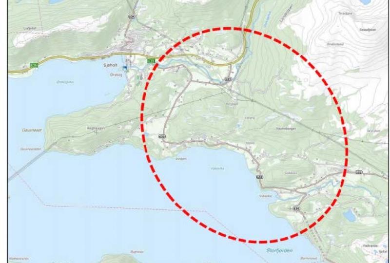 Kart av Børdalslinja