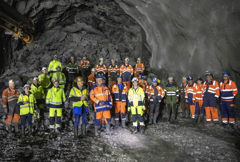 Røysa etter gjennomslag i Fjørtoftfjordtunnelen 20. april 2021.