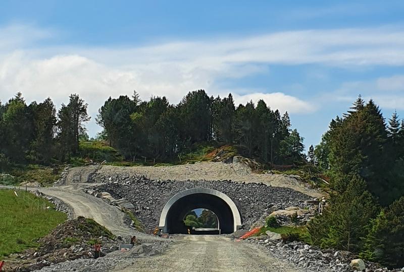 Bilde av Burbergtunnelen på Nordøyvegen