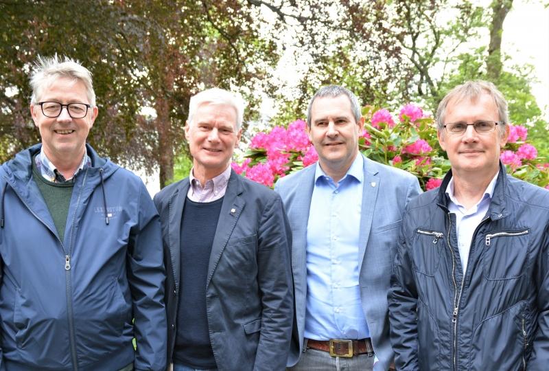 Bilde av dei fire leiarane. foto.