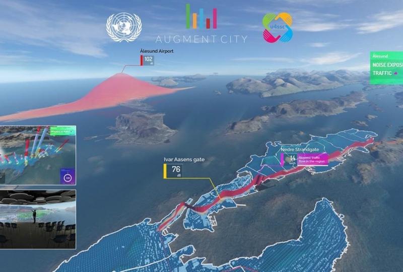 Digital visualisering av Ålesund