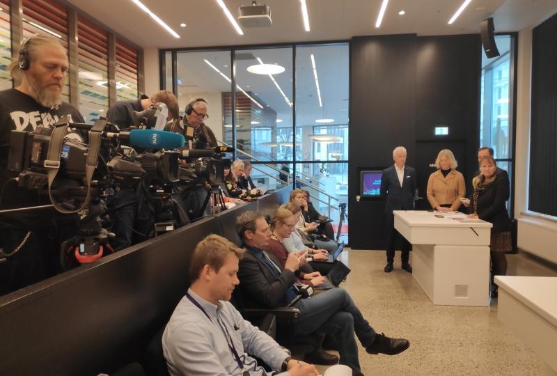 Pressekonferanse ferjefylka