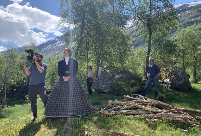 Lady Arbuthnott videoproduksjon med skuespiller